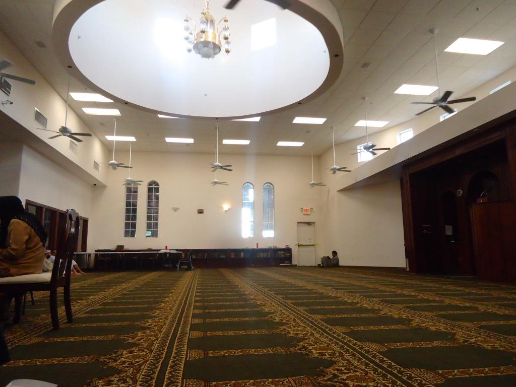 Men's prayer space/our Arabic classroom in Carrolton, Texas.
