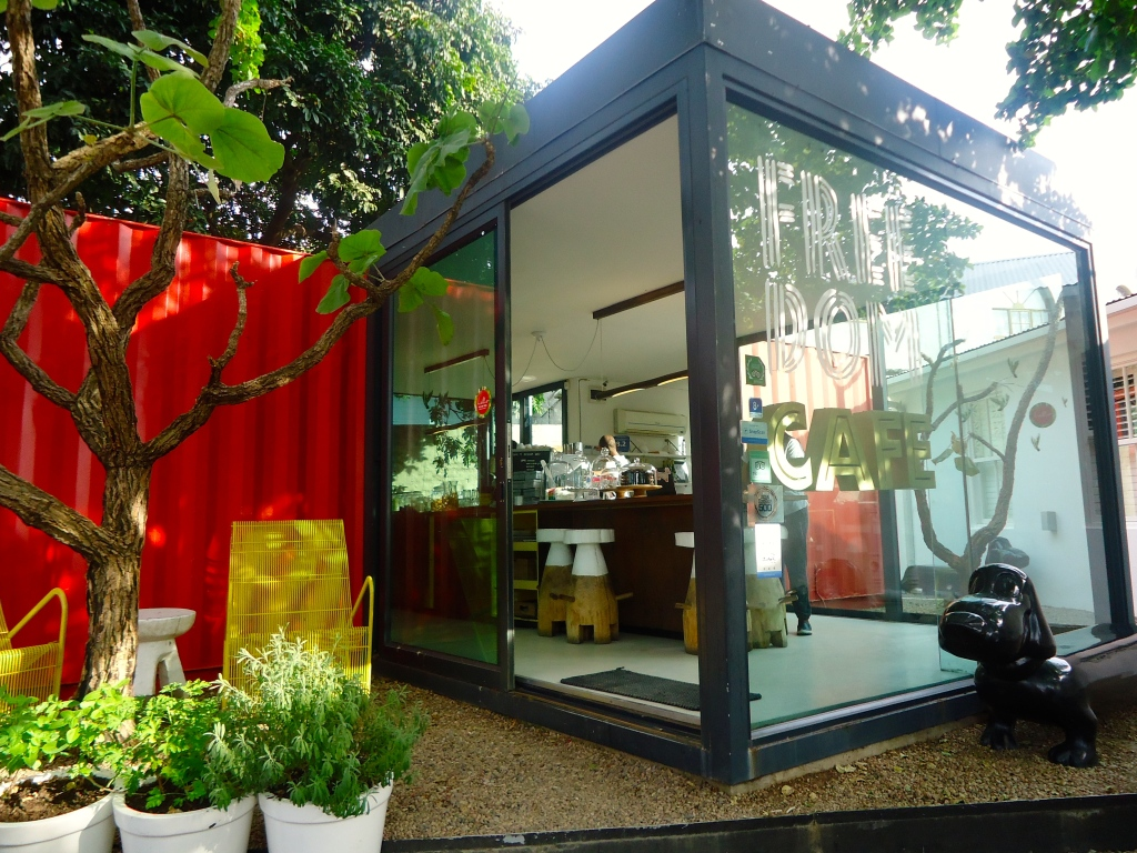 Shipping Container converted into cafe -Freedom Cafe, Durban (June 2015)