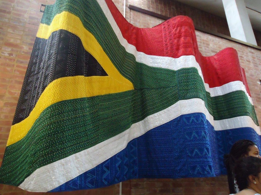 A flag to be proud of (Constiutional Court, Joburg, February 2016)